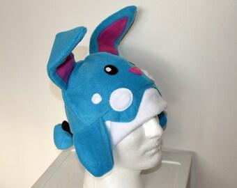 Azumarill Pokemon Fleece Hat with Earflaps