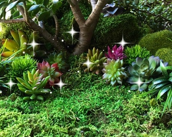 Artificial succulents, faux succulents, imitation succulents, miniature garden, fairy garden plants, plants for fairy garden