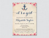 Nautical Baby Shower Invi...
