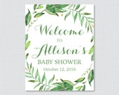 Green Baby Shower Welcome...