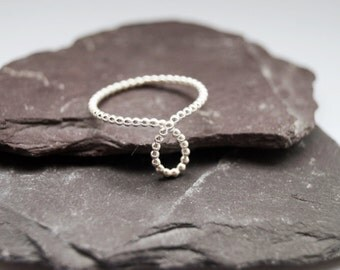 Looped Beaded Band Sterling Silver Ring ~ statement ring, elegant, modern, looped, texture, minimal, stacking, stackable