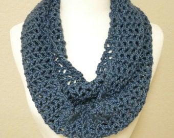 Lacy Infinity Scarf in Light Blue