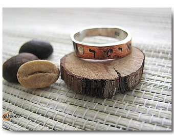 Ring, Ring Handcrafted Sterling silver, Copper Ring sterling silver, Ring Copper, Wrapped ring