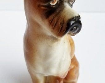 Vintage Ceramic Boxer Figurine