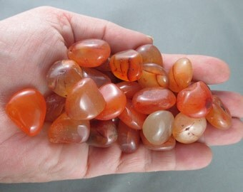 5 Carnelian Stones Polished - Protection Stone, Sacral Chakra, Healing Crystals & Stones, Energy Healing, Courage Crystal, Red Stone (T009)