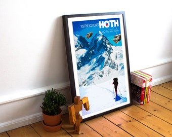 Hoth - Ice Planet - Ski The Slopes! - Star Wars Travel Poster Print (Available In Many Sizes)