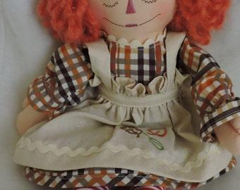 Cloth Doll, Raggedy Ann - 15 inches