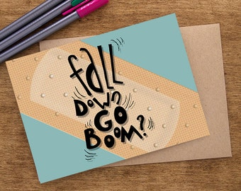 Funny Get Well Card, Funny Get Well Soon Card, Get Well Soon Gift, Get Better Card, Feel Better Card, Get Well Gift, Get Better Soon Card