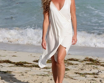 Organic Pima Cotton Greek White Dress