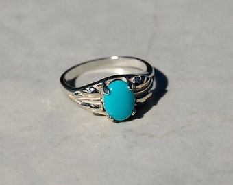 Sleeping Beauty Turquoise Sterling Silver Size 6 Ring