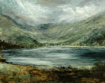 Lake Buttermere, Lake District Landscape Limited Edition Signed Print from Original Oil Landscape Painting