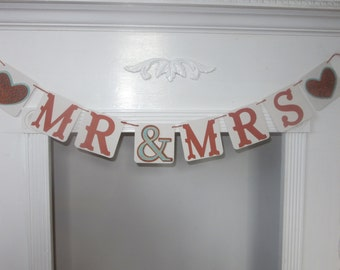 Mr Mrs Banner Wedding Banner Photo Prop Banner