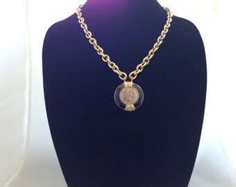 "25.5"" Vintage Costume Necklace with Pendant Circa Late 80's Early 90's."