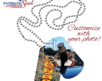 Personalized DogTag Necklace - USMC Girlfriend - Military Dog Tags - Dog Tag Necklace - Marine Girlfriend - Marine Girlfriend Necklace