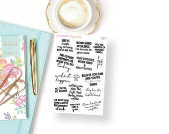 Motivational Quote Planner Stickers // 034