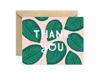 Palm Leaf Thank You Card