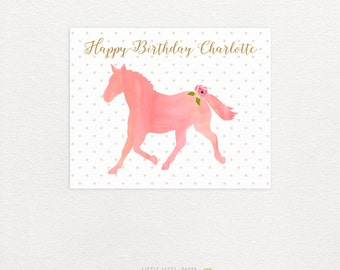 Custom Pony Sign. Custom Horse Sign. Horse Party Printables. Watercolor Horse Party. Pony Party. DIY