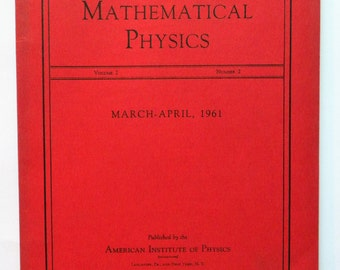 Journal of Mathematical Physics - Vol2/No2 - 1961 - vintage science journal
