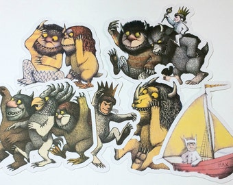 Large Die Cuts - Where the Wild Things Are,Cut Outs,Scrapbooking,Paper Embellishment,Scrapbooking Die Cut,Wild Things,Wild Thing Baby Shower