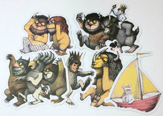 Die Cuts - Where the Wild Things Are,Cut Outs,Scrapbooking,Paper Embellishments, Scrapbooking Die Cuts,Wild Things,Wild Thing Baby Shower