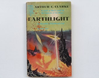 Earthlight Arthur C. Clarke Ballantine Book First Edition Vintage Science Fiction Paperback