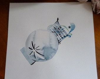 "Original painting - ""Moon influences"" Watercolor"