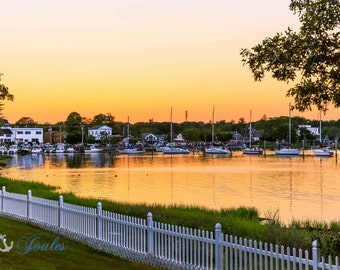 Wickford Sunset ~ Wickford, Rhode Island, Boats, New England, Ocean, Coastal, Seascape, Art, Photograph, Artwork, Sailboats, Sunset