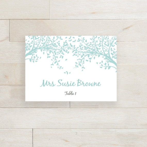 Table Place Name Cards Editable Printable Word By ConnieAndJoan