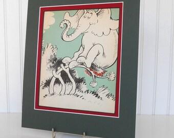 Dr. Seuss-Horton Hatches The Egg-1940 Original Book Page to Frame