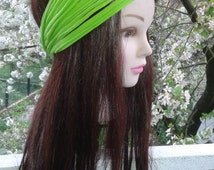 Lime Green Headband Workout Running Head band Yoga Hairband Head Scarf Dreadlock headband Wide Headbands Green headband