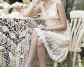 vintage lace dress. lace slip . lace dress. romantic lace dress. Evangeline lace dress. miss rose sister violet lace dress. lace beach dress