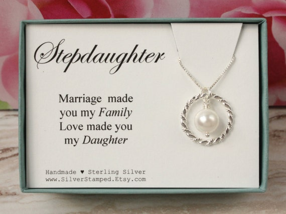 Wedding Gift For Dad And Stepmom: Gift For Stepdaughter Gift From Stepmom Sterling Silver