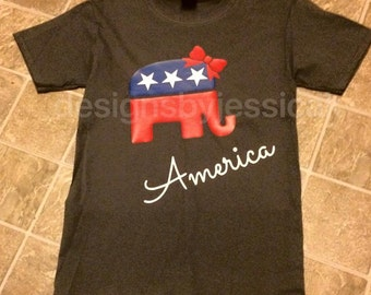 Republican Elephant America Shirt. Democrat Donkey America Shirt. Vote Shirt.