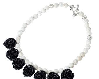 Midnight Roses Necklace