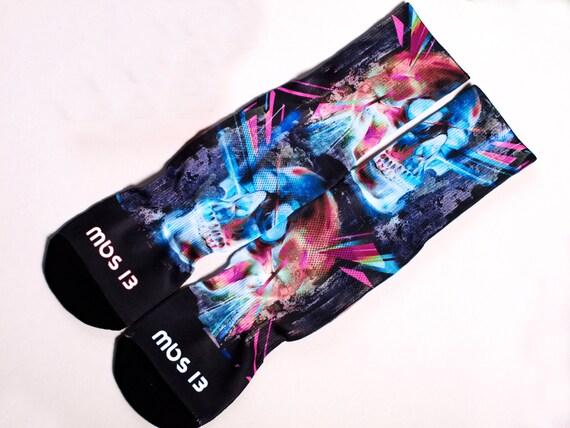 MBS 13 skull socks black