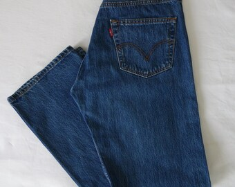 Levis 501 jeans, blue denim, straight leg pants trousers jeans, mens, boyfriend jeans, waist 32 Leg 32