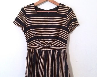Black + Gold Empire Dress
