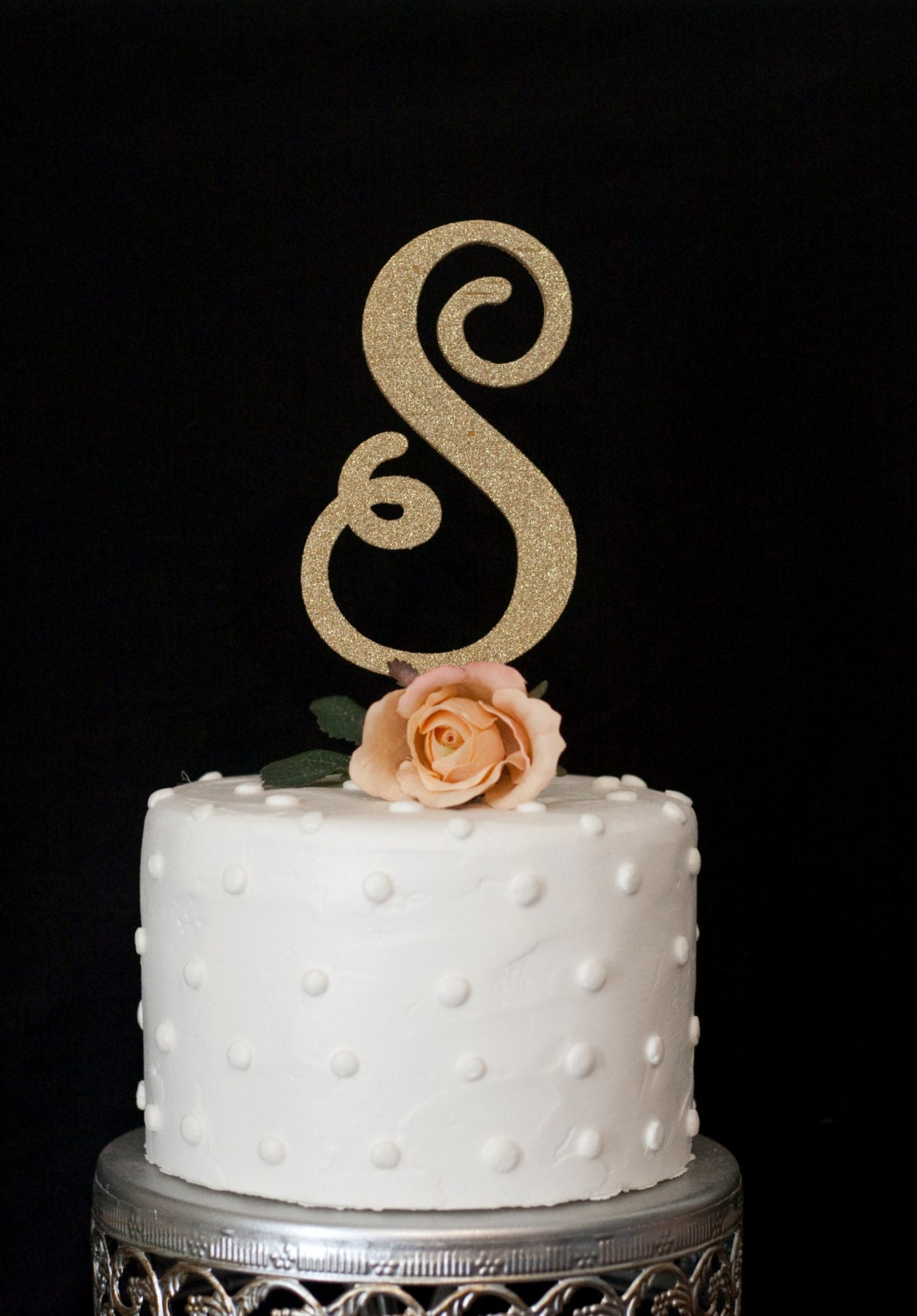 wedding cake toppers initials custom monogram wedding cake topper 26509