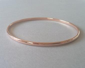 Rose Gold Bangle Gold Bangle Bracelet Gold Bracelet Bangle rose gold bangle 14k gold bangle bridesmaid gift Solid gold bangle Gold bangles