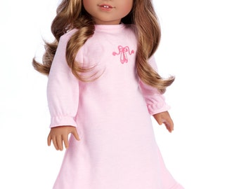 Sweet Dreams - Doll Clothes for 18 inch American Girl Doll - Pink Nightgown