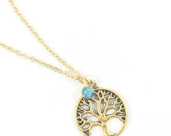Tree Necklace, Tree of Life Necklace, Family Tree Necklace, Nature Jewelry Woodland Jewelry Tree of Life Jewelry Spiritual Gifts for Friends