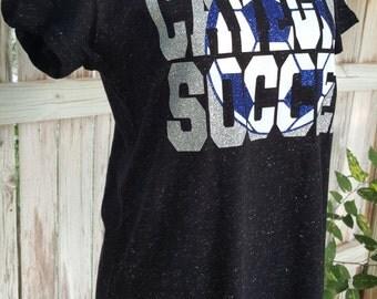 Carlsbad Cavegirls Soccer T with Glitter