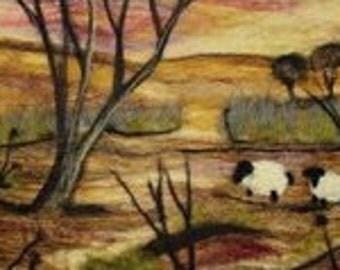 Sheep at Sunset Needle-felting kit