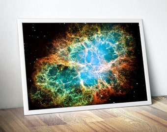 Crab Nebula Bedroom Wall Decor - Geeky Gifts for Him, Geeky Gifts for Dad, Geeky Gift Idea, Geeky Girl Gift - Office Decor