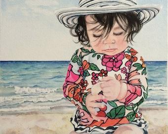 Baby Custom Portrait, Watercolor Portrait, Custom Portraits, Watercolor Painting, Portrait Artist