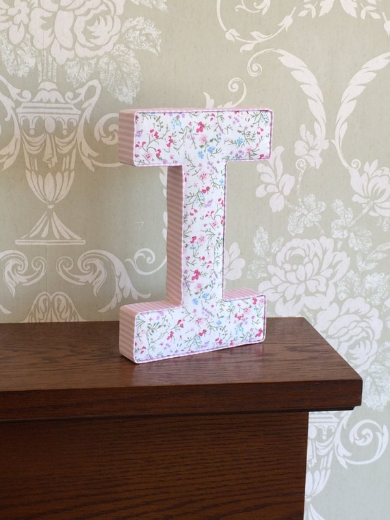 Decorative fabric covered girls nursery decor letters pink for Fabric covered letters for nursery