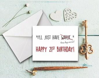 st birthday card, Birthday card