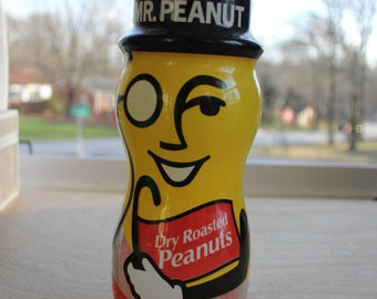Planters Peanut Mr. Peanut Top Hat First Edition 1990 Dry Roasted Peanut Jar - Empty