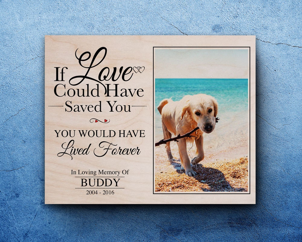 Pet Memorial Gift For Pet Loss In Memory Of Dog Dog