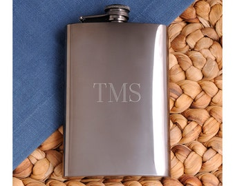 Personalized Alcohol Flask - Gunmetal Hip Flask - Whiskey Flask - Liquor Flask